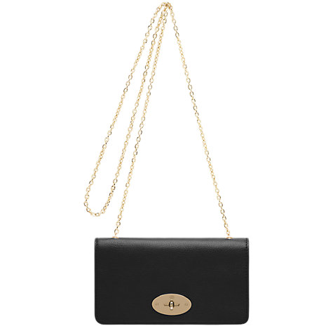 Buy Mulberry Bayswater Leather Clutch Bag, Black Online at johnlewis.com