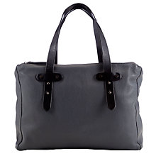 Buy Collection WEEKEND by John Lewis Onslow Leather Triple Shoulder Bag, Grey Online at johnlewis.com