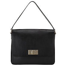 Buy Somerset by Alice Temperley Whitemere Leather Shoulder Bag, Black Online at johnlewis.com
