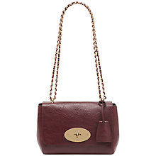 Buy Mulberry Lily Small Leather Shoulder Bag, Oxblood Online at johnlewis.com