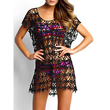 Buy Seafolly Field of Daisies Kaftan, One Size, Black Online at johnlewis.com