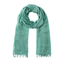 Buy Jigsaw Vienne Scarf, Teal Online at johnlewis.com