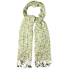 Buy White Stuff Garden Print Scarf, Avocado Online at johnlewis.com