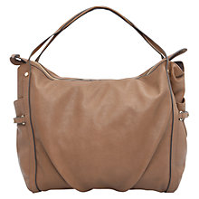 Buy Mango Pebbled Shopper Handbag, Light Beige Online at johnlewis.com