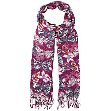 Buy White Stuff All Over Butterfly Print Scarf, Beetroot Online at johnlewis.com