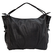 Buy Mango Pebbled Shopper Handbag, Black Online at johnlewis.com