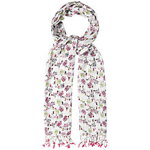 Buy White Stuff Tree Print Scarf, Natural Online at johnlewis.com
