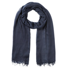 Buy Jigsaw Vienne Scarf, Navy Online at johnlewis.com