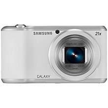 "Buy Samsung Galaxy Camera 2, HD 1080p, 21x Zoom, 16.3MP, Wi-Fi, GPS, 4.8"" Touch Screen, White with Memory Card Online at johnlewis.com"