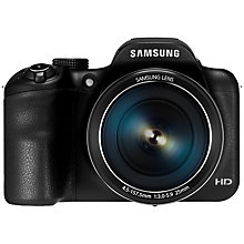 "Buy Samsung WB1100F Bridge Camera, HD 720p, 16.2MP, 35x Optical Zoom, Wi-Fi, NFC, 3"" LCD Screen with Half Price Camera Case Online at johnlewis.com"