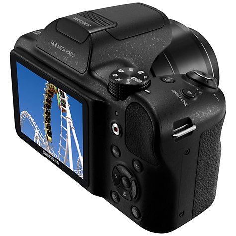 "Buy Samsung WB1100F Bridge Camera, HD 720p, 16.2MP, 35x Optical Zoom, Wi-Fi, NFC, 3"" LCD Screen Online at johnlewis.com"