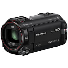 "Buy Panasonic HC-W850 HD 1080p Twin Camcorder, 24MP, 20x Optical Zoom, Wi-Fi, Dual Cameras, 3"" LCD Screen Online at johnlewis.com"