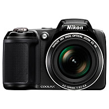 "Buy Nikon Coolpix L330 Bridge Camera, HD 720p, 20MP, 26x Optical Zoom, 3"" LCD Screen Online at johnlewis.com"