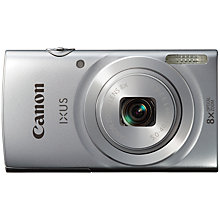 "Buy Canon IXUS 145 Digital Camera, HD 720p, 16MP, 8x Optical Zoom, 2.7"" LCD Screen, Silver with 16GB + 8GB Memory Card Online at johnlewis.com"