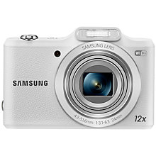 "Buy Samsung WB50F Digital Camera, HD 720p, 16MP, 12x Optical Zoom, Wi-Fi, 3"" Screen, White with Memory Card Online at johnlewis.com"