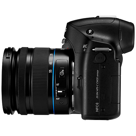 "Buy Samsung NX30 Compact System Camera with 18-55mm Lens, HD 1080p, 20.3MP, Wi-Fi, NFC, EVF 3"" AMOLED Touch Screen Online at johnlewis.com"