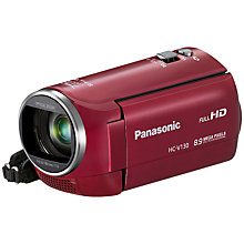 "Buy Panasonic HC-V130 HD 1080p Camcorder, 8.9MP, 38x Optical Zoom, 2.7"" LCD Screen Online at johnlewis.com"