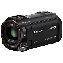 "Buy Panasonic HC-V750 HD 1080p Camcorder, 24MP, 20x Optical Zoom, Wi-Fi, NFC, 3"" LCD Screen Online at johnlewis.com"