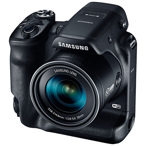 "Buy Samsung WB2200F Bridge Camera, HD 1080p, 16.4MP, 60x Optical Zoom, Wi-Fi, NFC, 3"" LCD Screen Online at johnlewis.com"