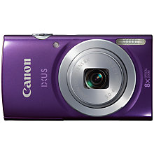 "Buy Canon IXUS 145 Digital Camera, HD 720p, 16MP, 8x Optical Zoom, 2.7"" LCD Screen, Purple with 16GB + 8GB Memory Card Online at johnlewis.com"