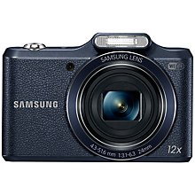 "Buy Samsung WB50F Digital Camera, HD 720p, 16MP, 12x Optical Zoom, Wi-Fi, 3"" Screen, Black with Memory Card Online at johnlewis.com"