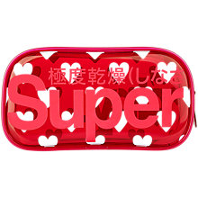 Buy Superdry Printed Jelly Toiletries Bag, Red/White Online at johnlewis.com