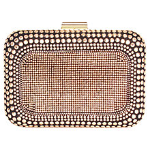 Buy Carvela Boss Embellished Clutch, Gold/Black Online at johnlewis.com