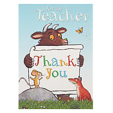 Buy Gruffalo For My Teacher Card Online at johnlewis.com