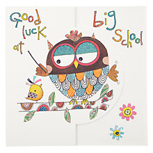Buy Sugar Moon Good Luck at Big School Card Online at johnlewis.com