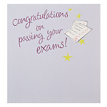 Buy Candy Congratulations on Passing Your Exams Card Online at johnlewis.com