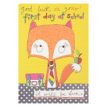 Buy Jim Jams First Day at School Card Online at johnlewis.com