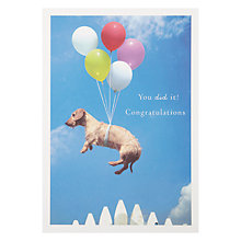 Buy Loose Leashes Daschund in the Air with Balloons Greeting Card Online at johnlewis.com