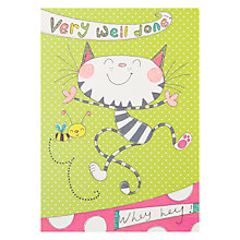 Buy Jim Jams Very Well Done Cat Card Online at johnlewis.com