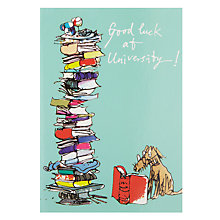 Buy Quentin Blake Dog Reading Card Online at johnlewis.com
