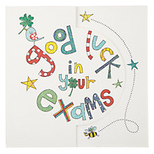 Buy Sugar Moon Good Luck with your Exams Card Online at johnlewis.com