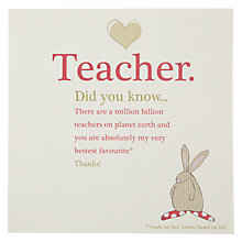 Buy Didyouknow Teacher Card Online at johnlewis.com