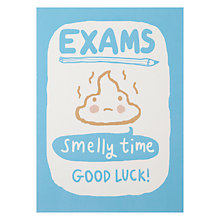 Buy Mr Poo Chops Good Luck in your Exams Card Online at johnlewis.com