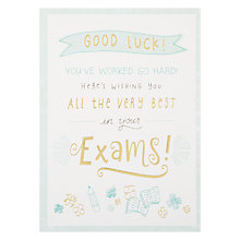 Buy Illustration Good Luck With Your Exams Card Online at johnlewis.com