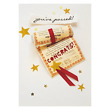 Buy Paperchain You've Passed Congratulations Card Online at johnlewis.com