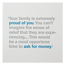 Buy Lyric Proud of You Graduation Card Online at johnlewis.com