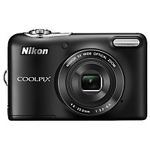 "Buy Nikon Coolpix L30 Digital Camera, HD 720p, 20.1MP, 5x Optical Zoom, 3"" LCD Screen, Black Online at johnlewis.com"