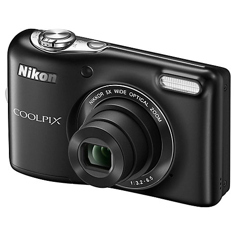 "Buy Nikon Coolpix L30 Digital Camera, HD 720p, 20.1MP, 5x Optical Zoom, 3"" LCD Screen Online at johnlewis.com"