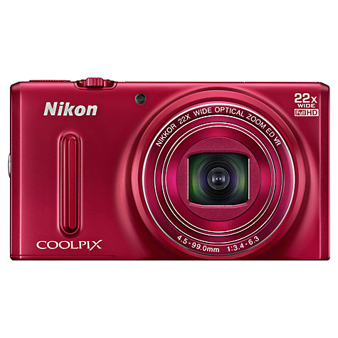 "Buy Nikon COOLPIX S9600 Digital Camera, HD 1080p, 16MP, 22x Optical Zoom, 3"" Screen Online at johnlewis.com"