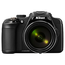 "Buy Nikon Coolpix P600 Bridge Camera, HD 1080p, 16.1MP, 60x Optical Zoom, Wi-Fi, 3"" LCD Screen, Black with Memory Card Online at johnlewis.com"