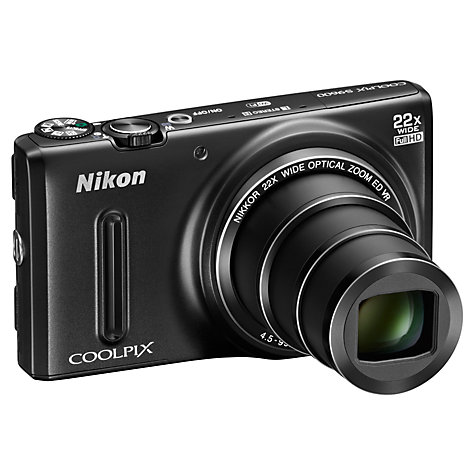 Buy Nikon Coolpix S9600 Digital Camera, HD 1080p, 16MP, 22x Optical Zoom, 3 Screen Online at johnlewis.com