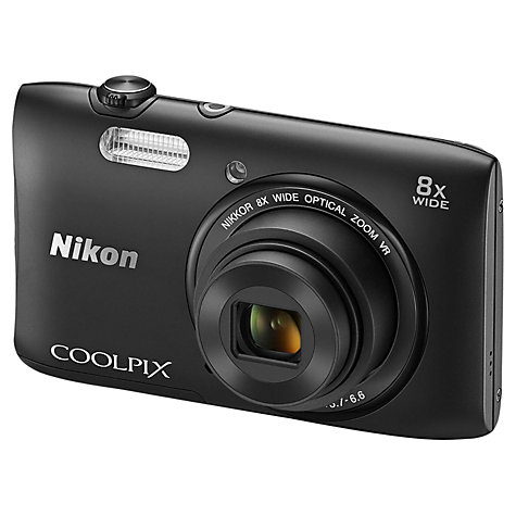 Buy Nikon Coolpix S3600 Digital Camera, HD 720p, 20.1MP, 8x Optical Zoom, 2.7 LCD Screen Online at johnlewis.com