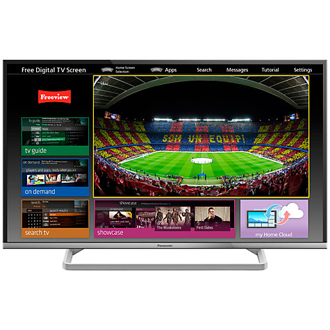 "Buy Panasonic Viera TX-39AS600 LED HD 1080p Smart TV, 39"", Freeview HD with freetime, Silver Online at johnlewis.com"