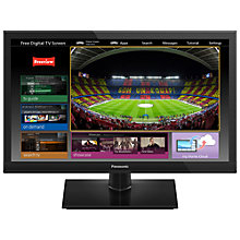 "Buy Panasonic Viera TX-24AS510B LED HD Ready Smart TV, 24"" with Freeview HD & <freetime> Online at johnlewis.com"