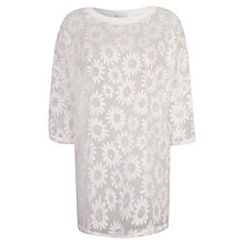 Buy True Decadence Oversized Tee, White Daisy Online at johnlewis.com