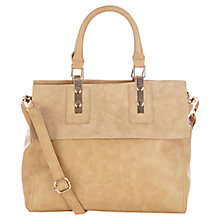Buy Warehouse Two Tone Tote Bag, Camel Online at johnlewis.com